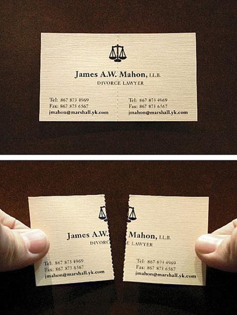 Cartão para advogado especializado em divórcio
