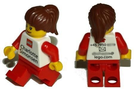 Cartão de visita com seu próprio avatar em lego