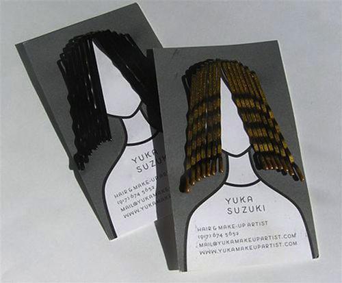 Cartão para cabeleireiros