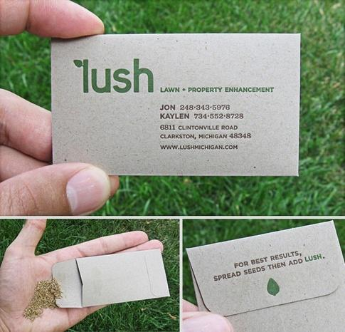 Cartão ecológico que vem com sementes