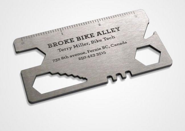 Cartão que serve como ferramenta